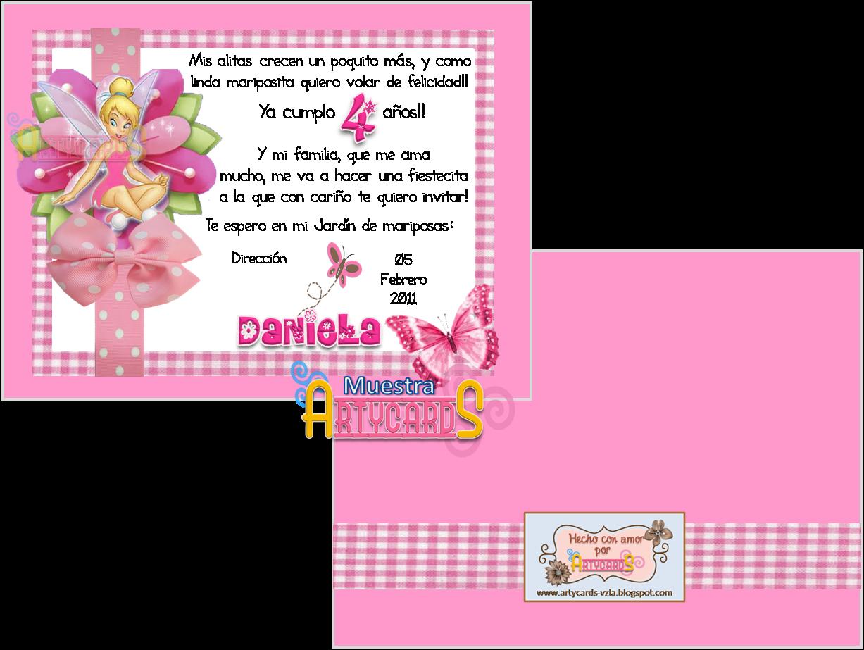 Artycards invitaciones cumplea os de ni a for En 8 dias cumplo anos