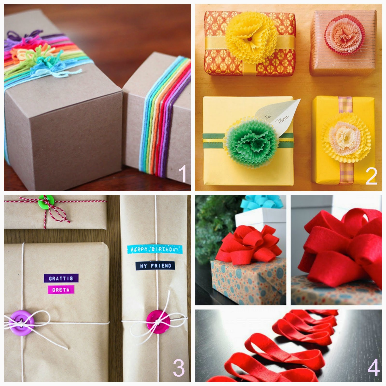 Impacchettare i regali 9 idee fai da te donneinpink for Cose per decorare la camera