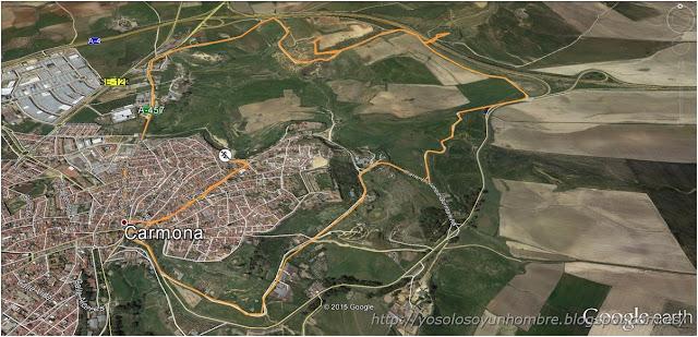 Mapa ruta running Carmona
