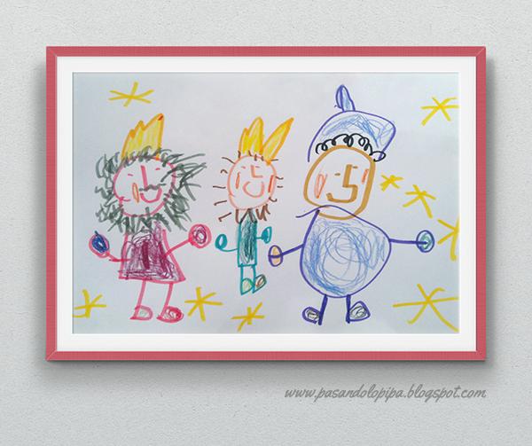pasandolopipa | dibujo de los Reyes Magos