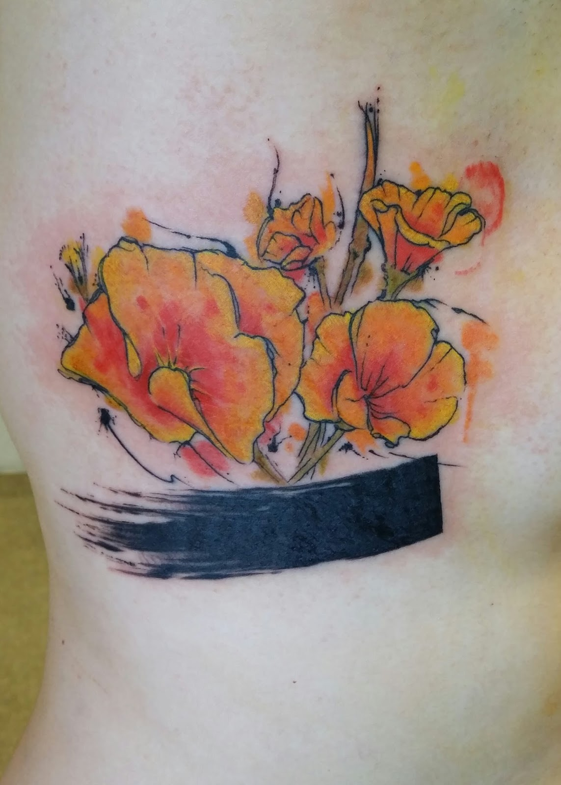 Awesome inks tattoo ideas inspiration and information for Watercolor poppy tattoo