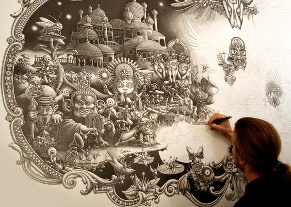 Amazing Illustrations by Joe Fenton - Solitude - 2010/2011 - A work in progress