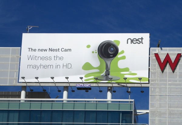 Witness the mayhem in HD Nest Cam billboard