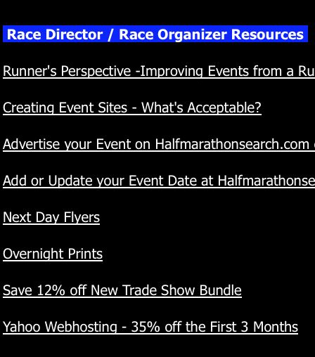 Other Race Organizer Links
