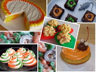 orange and green halloween treats