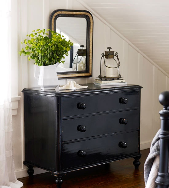 Shorely Chic BLACK PAINTED FURNITURE