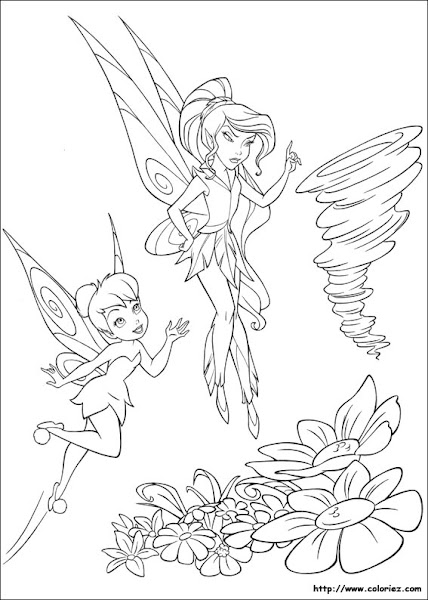 Tinkerbell And Vidia Coloring Pages