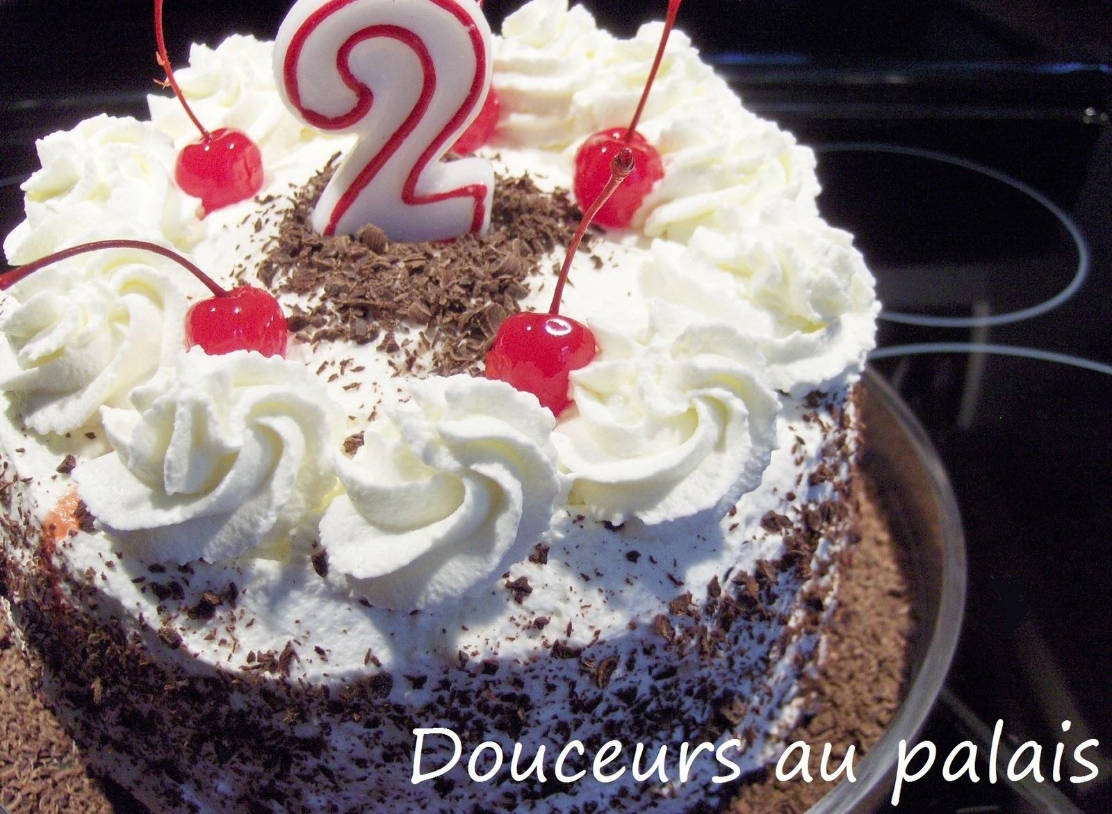 Douceurs au palais g teau for t noire pour l - Gateau anniversaire 2 ans ...