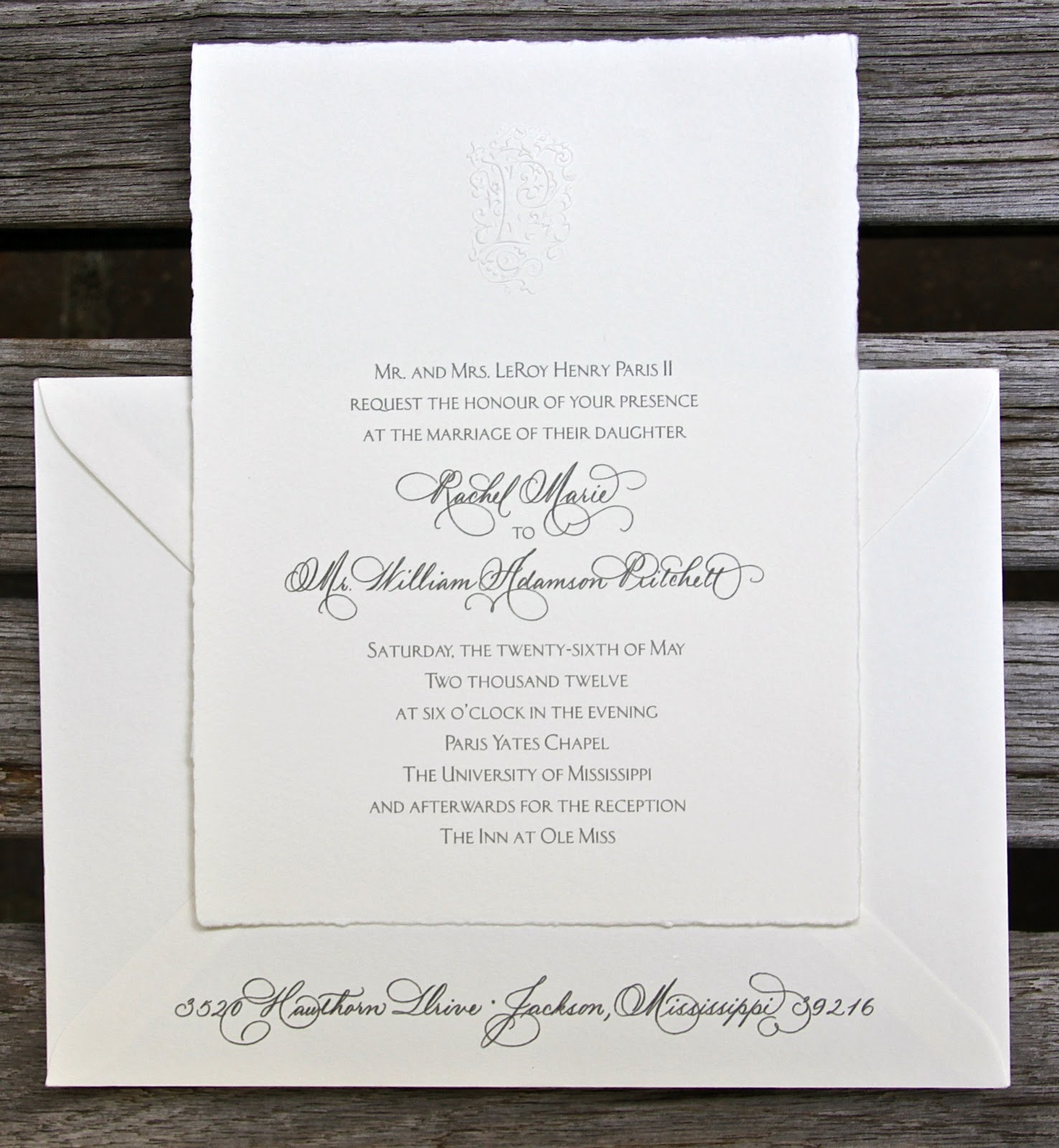Paris - Pritchett wedding invitation : A work of art! | Fresh Ink ...
