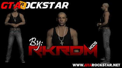 GTA SA - Verdadeira Skin de Vin Diesel - Dom Toretto