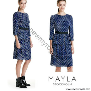 Crown Princess Victoria wore MAYLA Dress and BY MALENE BIRGER Coat