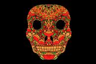 Skull in Khokhloma by Haidi Shabrina