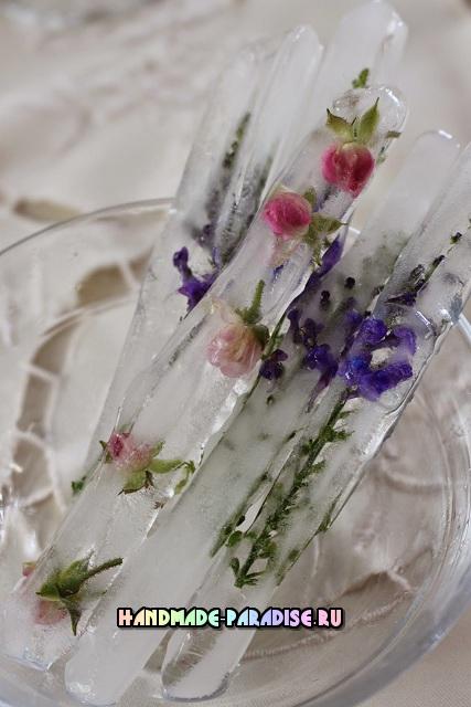Ледяные палочки для зимнего праздничного стола