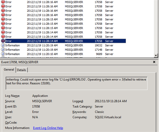 How to Eliminate Consistency Error of the SQL Server 2012 ...