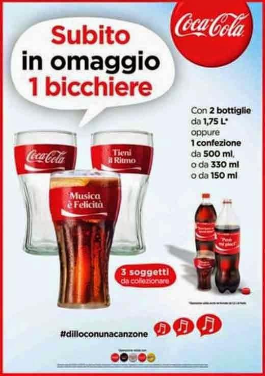 1 bicchiere coca cola gratis
