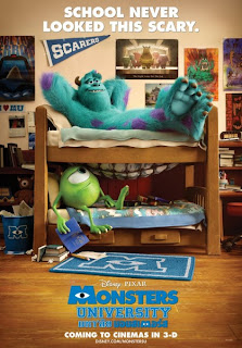 monsters university 3d pixar poster