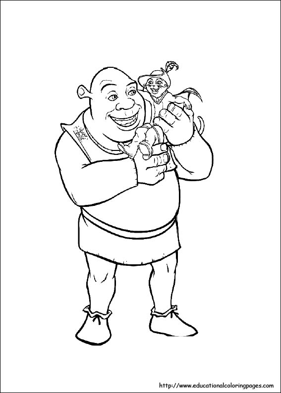 Disegni Da Colorare Disegni Da Colorare Shrek I Personaggi Del Film