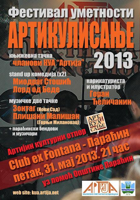 """""""Artikulisanje"""" rok muzike i drugih umetnosti u Paraćinu"""