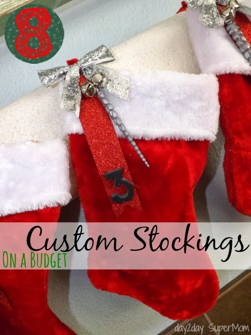 Custom Stockings on a Budget ~ 12 Supermom Days of Christmas