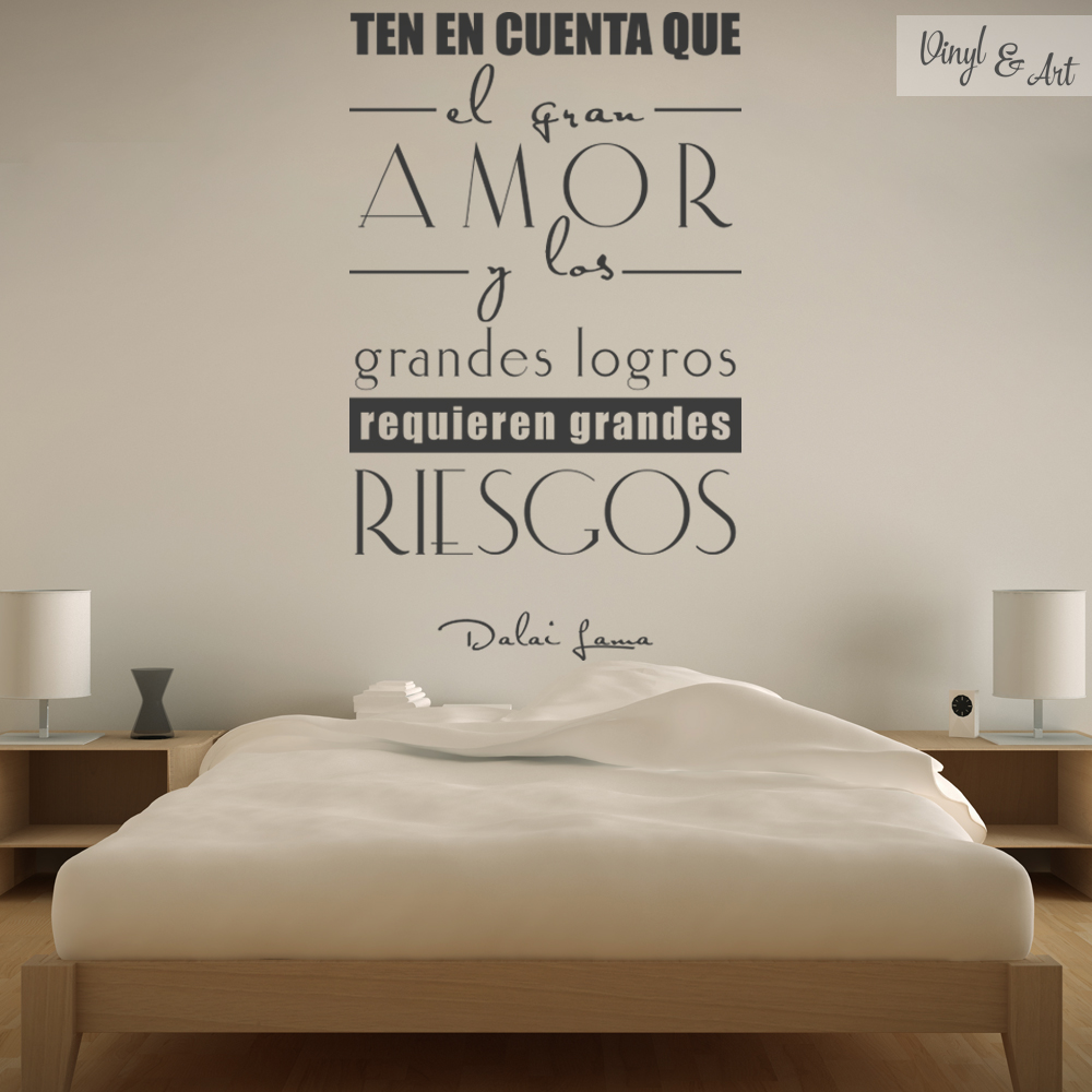Vinilos adhesivos decorativos vinyl art vinilos for Frases en vinilo para pared