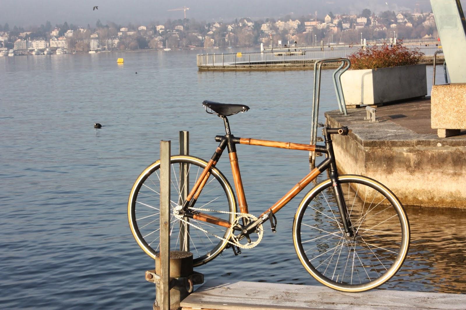 Ein Fahrrad aus Bambus