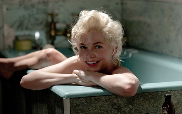 Michelle Williams in the bath naked