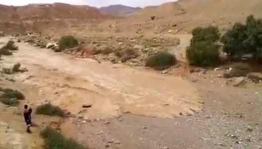 Momento en que un río renace en el desierto de Israel