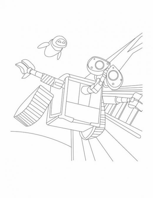 disney wall e coloring pages - photo#18