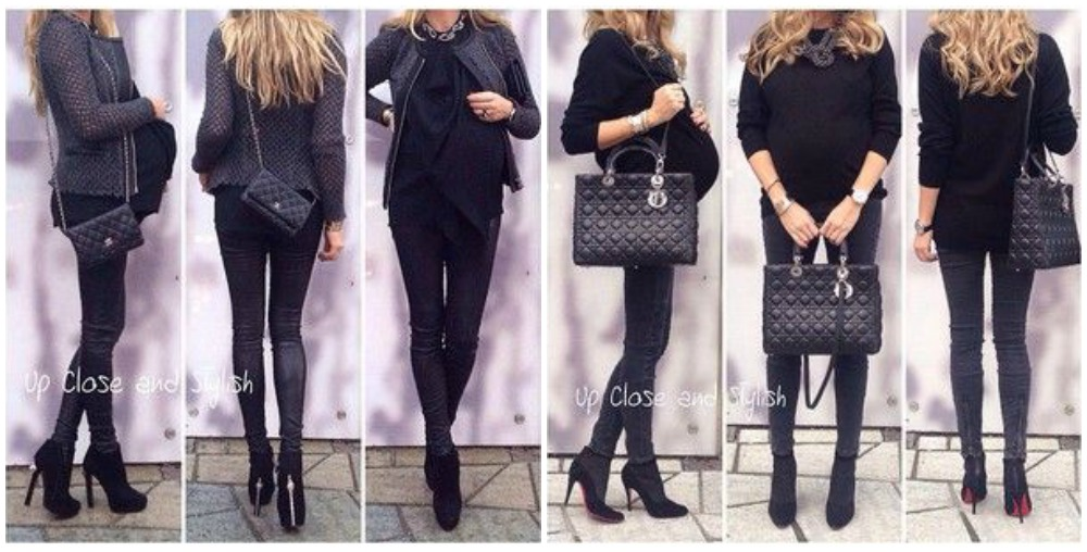 look total black premama