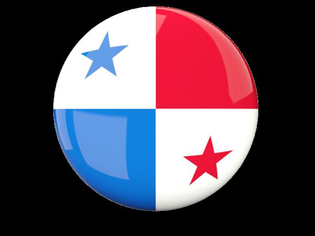 Glossy round flag of Panama