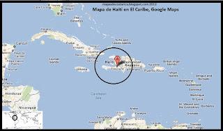 Mapa de Haití en El Caribe, Google Maps