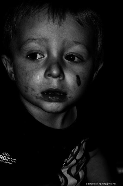 dziecko, dzieci, czerń i biel, zdjęcie, portret