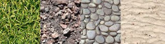 GRASS, GROUND, GRAVEL, PEBBLES, ROCK, SAND