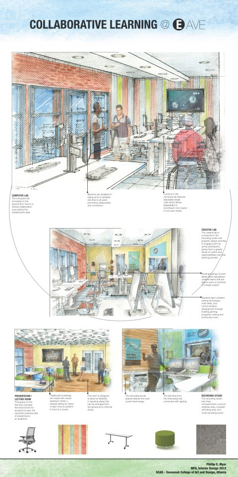 Shed4 site navigation proposal using found materials and painted ...