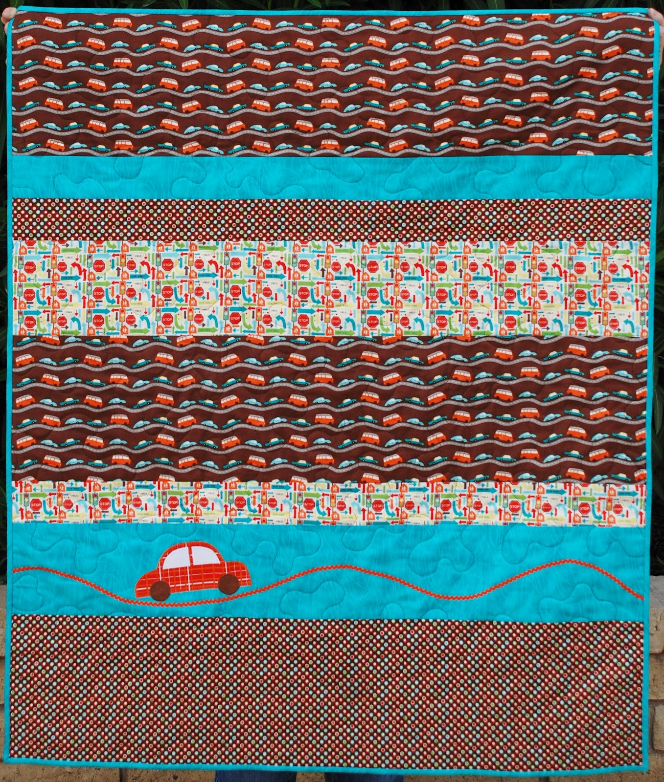 Charley dee me little wheels baby boy quilt for Little boy fabric