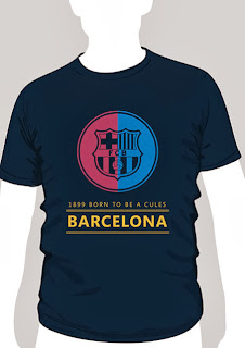 kaos bola barca born to be cules murah