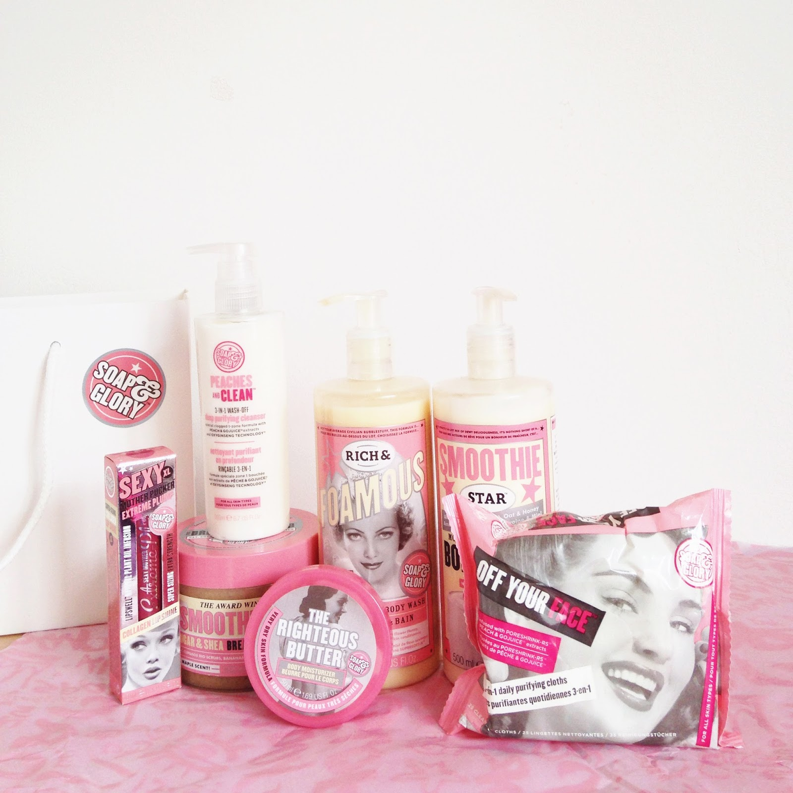 beauty haul from soap and glory