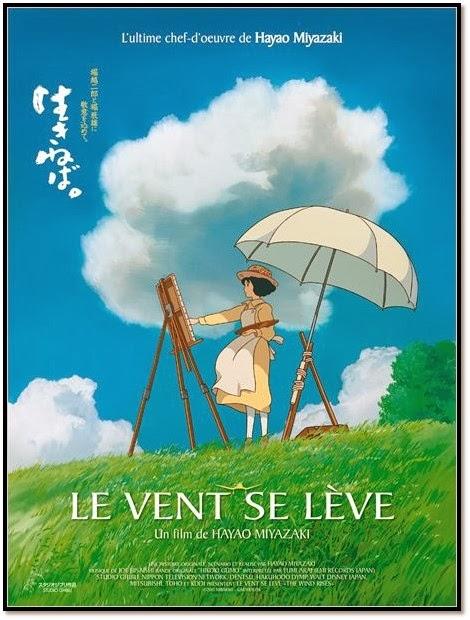 film d'nimation de Hayao Miyazaki LE VENT SE LEVE film animation japonais affiche