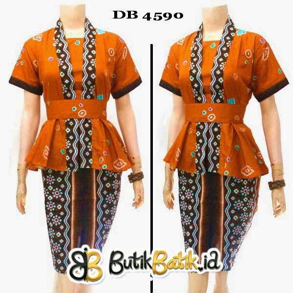 Jual Baju Dress Batik Wanita Modern Model Terbaru 2015  Model