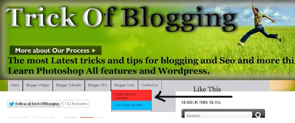 Add Manually CSS Jqeury Drop Down Menu By Replace/Remove Pages On Blogger