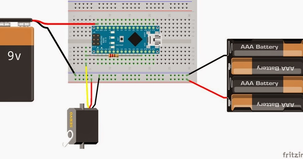 Nevit 39 s blog arduino nano servo controller for gopro for Arduino nano motor control