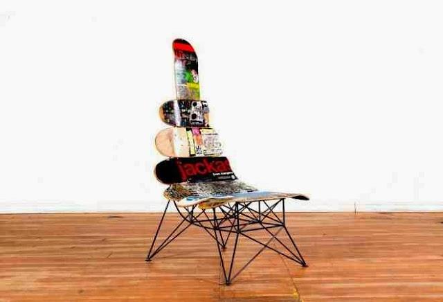 Awangardowe Krzesło z deskorolek