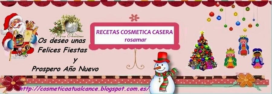 RECETAS COSMÉTICA CASERA