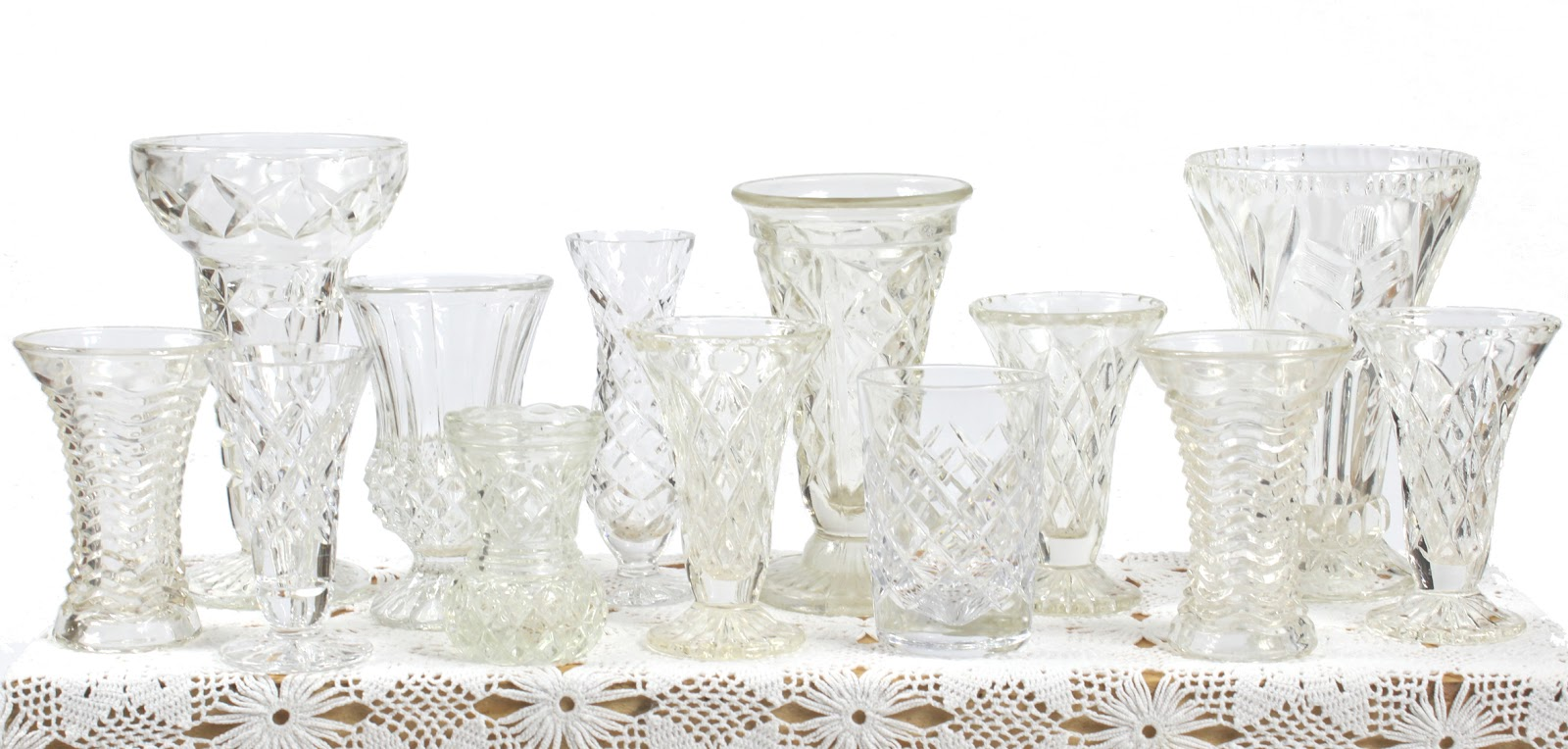 Little vintage days vases bottles and jars vintage cut glass and crystal vases small medium reviewsmspy