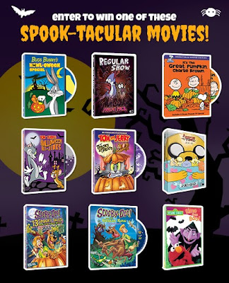 Enter to win the Spook-Tacular Movie Giveaway. Enter by 10/28.