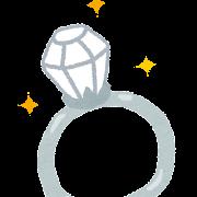ダイヤの指輪のイラスト
