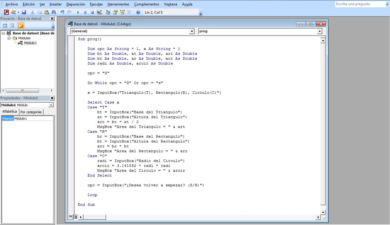 funciones trigonometricas en visual basic: