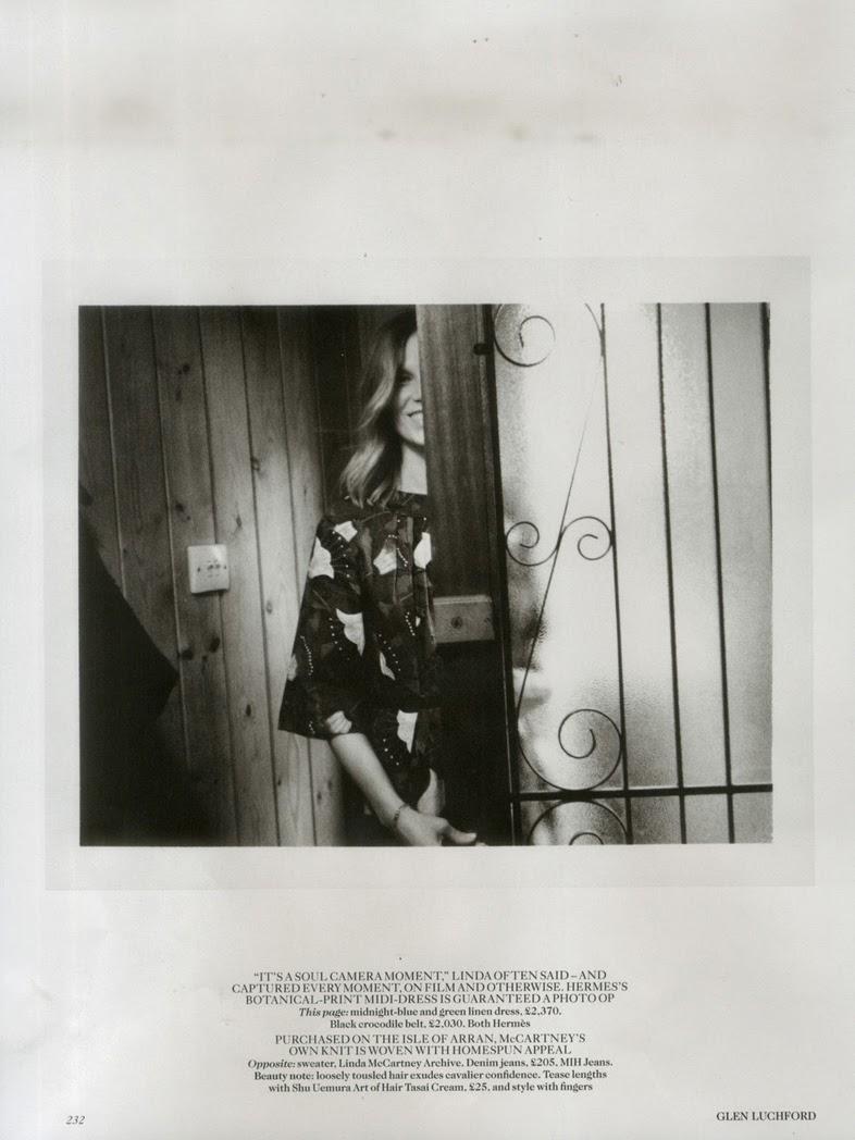 Linday McCartney's wardrobe alongside her daughter Stella McCartney's latest designs