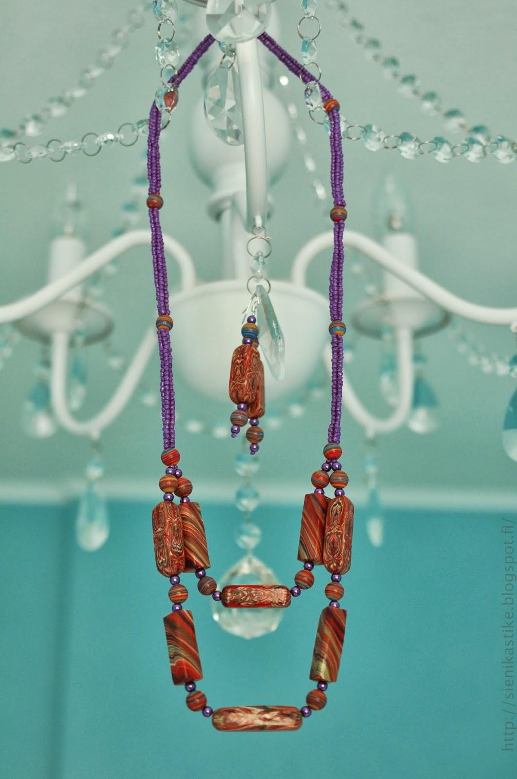 бусы, серьги, handmade, из бисера, из полимерной глины, рукоделие