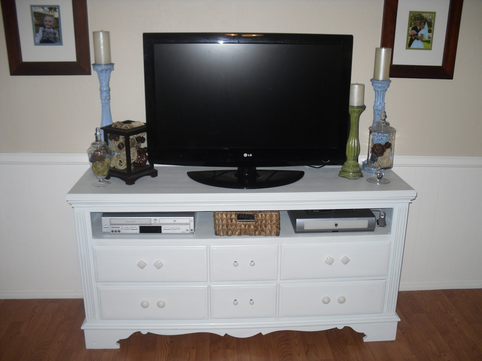 craftify it dresser to tv stand tutorial. Black Bedroom Furniture Sets. Home Design Ideas